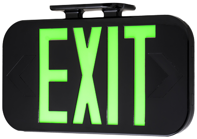 Hybrid EXIT Sign in Black
