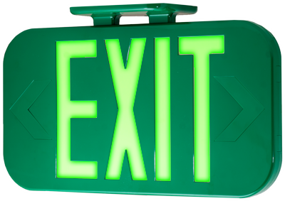 Hybrid EXIT Sign in Green