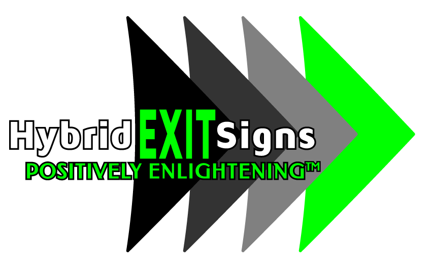 Hybrid Exit Signs