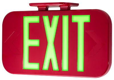 Hybrid EXIT Sign in Red
